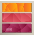 Set abstract bright picture pink red orange vector image