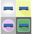 railway transport flat icons 07 vector image