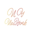 New York - hand drawn watercolor calligraphy and vector image