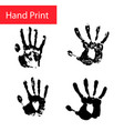 hand print set hand vector image