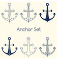 Set of anchor logo vector image vector image