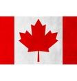 Canadian grunge flag background vector image vector image