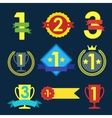 Medal and winner icon set vector image