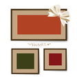 Set of photo frames on the wall vector image