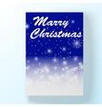 Christmas hollyday night card vector image