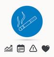 smoking allowed icon yes smoke sign vector image