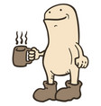 Coffee and puppet vector image
