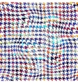 Houndstooth background pattern vector image