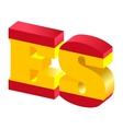 internet top-level domain of spain vector image