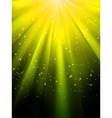 stars on yellow background vector image vector image