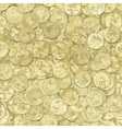 Golden coins texture vector image