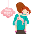 Father Carrying Sleeping Daughter vector image