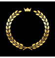 Gold laurel wreath crown leaf vector image