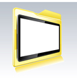 Folder with abstract monitor vector image