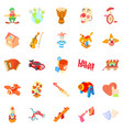 clown icons set cartoon style vector image