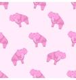 Elephant Pattern Stylized vector image