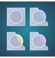 Flat icons of colored condom vector image