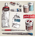 paint tools vector image