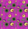 seamless pattern monster vector image