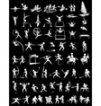 Sport icons for many sports vector image