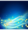 stars flying vector image