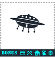 UFO icon flat vector image