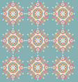 ornament pattern retro style vector image