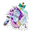 Unicorn in cartoon style vector image