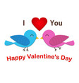 couple cute bird are in love vector image