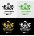 Royal coffee logo template vector image