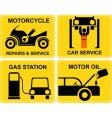 autoservice motorcycle repair vector image