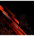 Dark red grunge tech background vector image