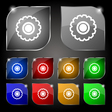 cogwheel icon sign Set of ten colorful buttons vector image