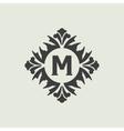 Stylish vintage monogram design vector image vector image