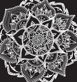 Mandala style abstract flower vector image vector image