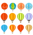 Different colorful air balloons vector image vector image