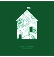 abstract blue and green leaves house vector image