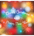 blurred winter holidays background with merry vector image