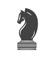 Chess Knight Black icon logo element flat isolated vector image