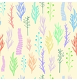 Floral pattern texture with flowers vector image