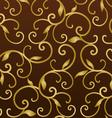 gold vintage seamless pattern vector image