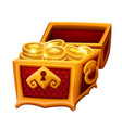 golden chest with coins vector image