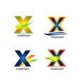 Letter X logo icon set vector image