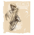 Music placard with an Musician vector image