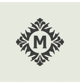 Stylish vintage monogram design vector image