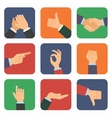 Hand icon set vector image