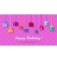 Happy Birthday Flat Design Web Banner vector image