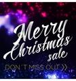 Merry Chrismas Sale Lettering Bright Banner vector image