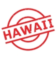 Hawaii rubber stamp vector image vector image