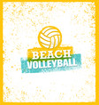 Beach volleyball bright design element on vector image
